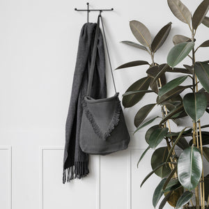 Matte Black Geometric 'Prea' Coat Hook Rack