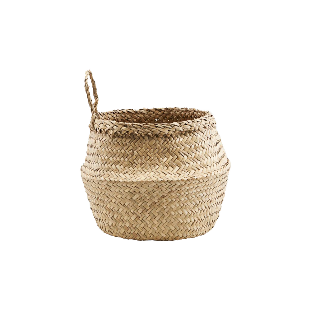 Load image into Gallery viewer, Hanging Woven Seagrass Basket, 18.5 x 24 cm