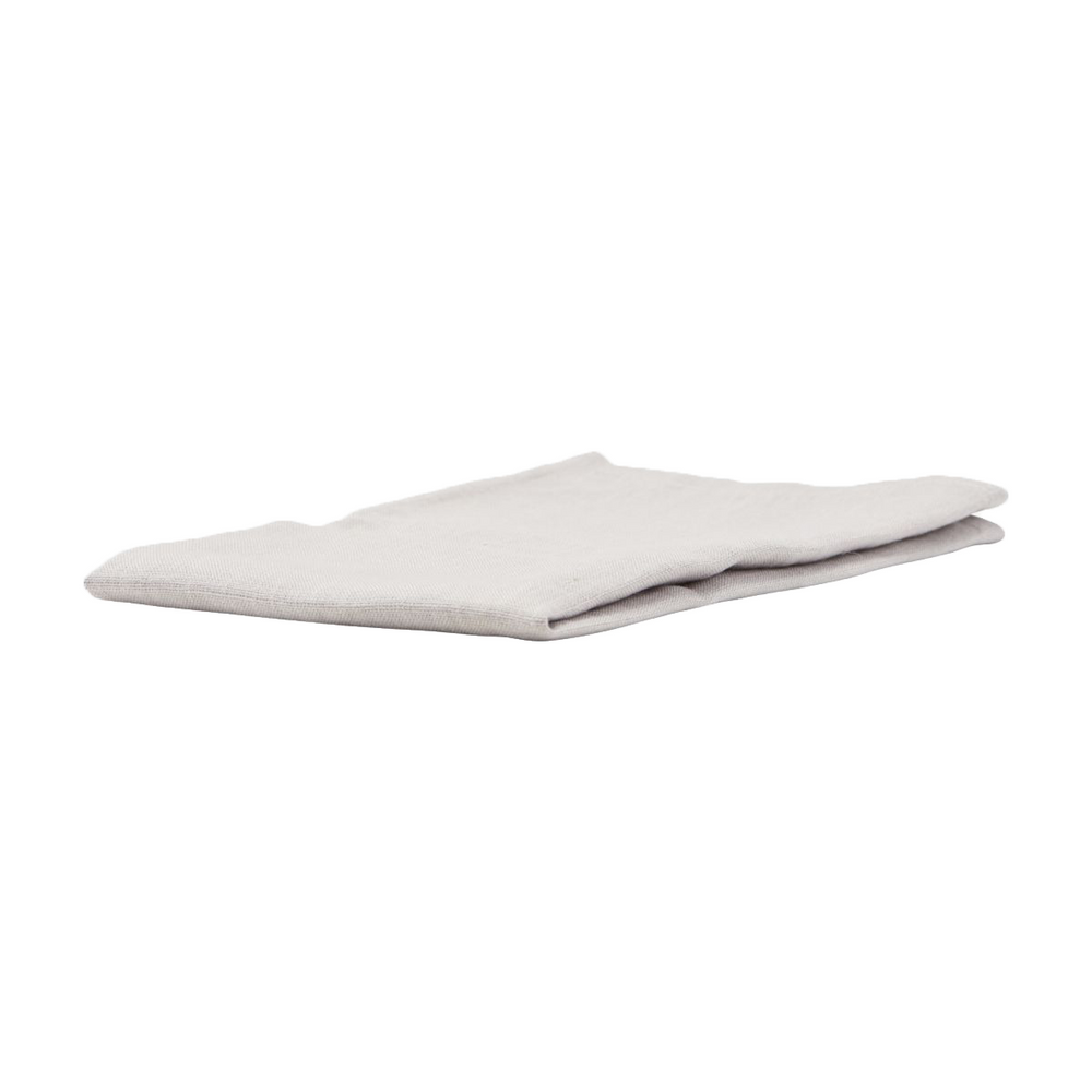 Set of 4 Light Grey Linen Napkins