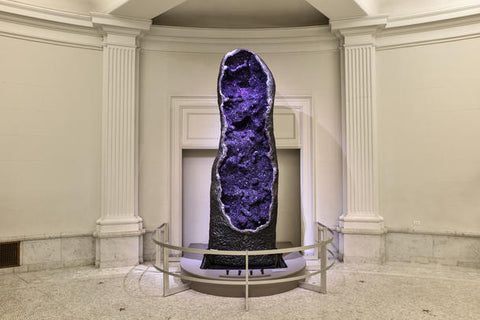 12 foot tall Amethyst geode at the American Museum of Natural History in New York City