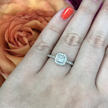 Load image into Gallery viewer, .90 CTW Diamond Halo Engagement Ring