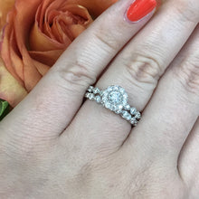 Load image into Gallery viewer, 1 CTW 14K White Gold Engagement Ring with Stackable Wedding Set