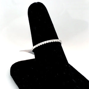 14K White Gold Shared Prong Diamond Band