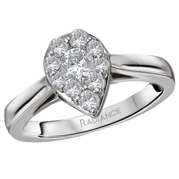 radiance halo diamond ring