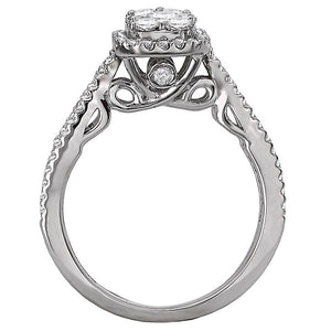 split shank diamond cluster ring