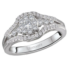 Load image into Gallery viewer, radiance split shank diamond ring