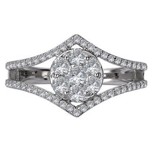 Load image into Gallery viewer, diamond cluster fashion ring