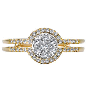 diamond cluster fashion ring