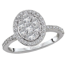 Load image into Gallery viewer, diamond cluster bridal ring
