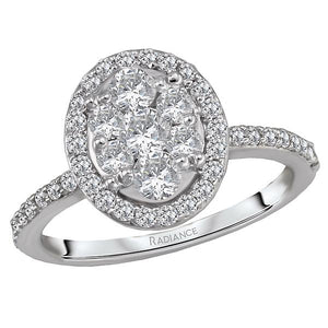diamond cluster bridal ring