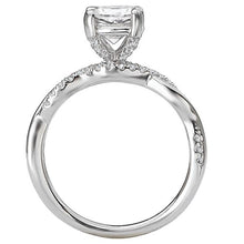 Load image into Gallery viewer, Peg Head Semi-Mount Diamond Ring