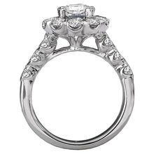 Load image into Gallery viewer, Halo Semi-Mount Diamond Ring