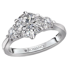 Load image into Gallery viewer, 3 Stone Semi-Mount Diamond Ring