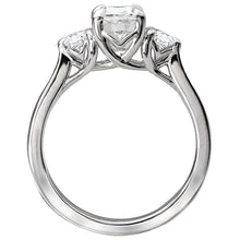 Load image into Gallery viewer, 3-Stone Semi Mount Diamond Ring