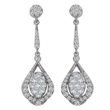 Load image into Gallery viewer, 14k ladies fashion diamond earrings