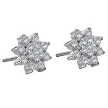 Load image into Gallery viewer, floral diamond earring