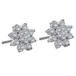 floral diamond earring