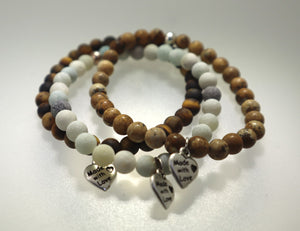 Genuine Agate  Stretch Bracelet