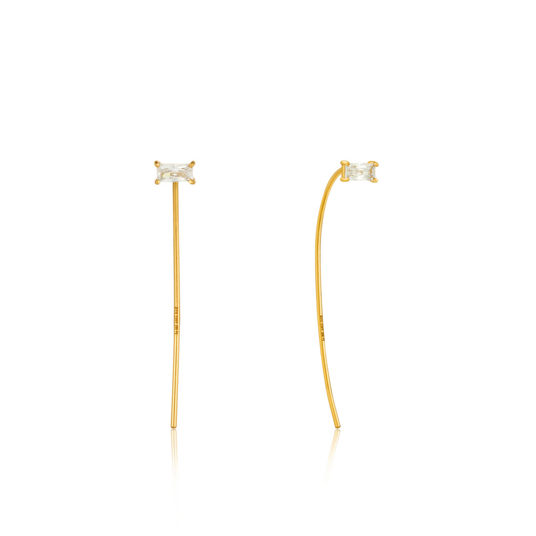ANIA HAIE GOLD GLOW SOLID DROP EARRINGS