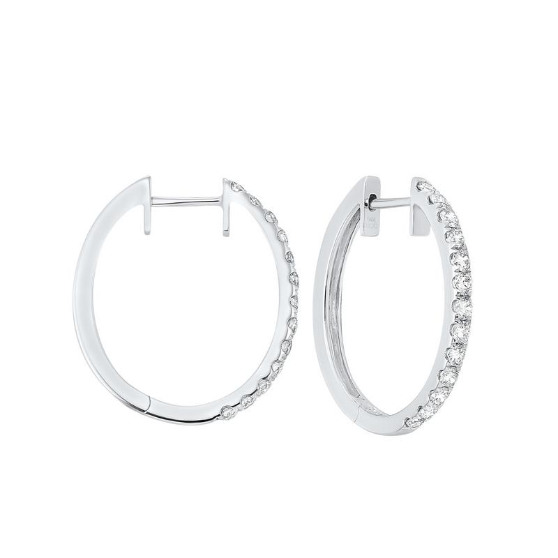 14kw prong diamond hoop earrings 3/4ct, ps5.00aaa-4w