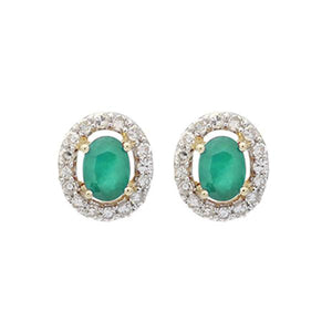 10kw color ens prong emerald earrings 1/100ct, fr1209-1wd