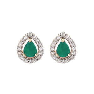 10kw color ens prong emerald earrings 1/250ct, fr1233-4yd