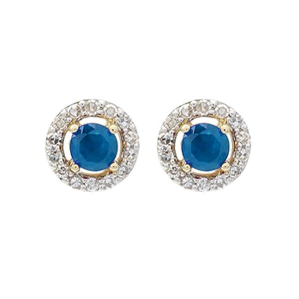 10kw color ens prong sapphire earrings 2/250ct, fr1070-4wd