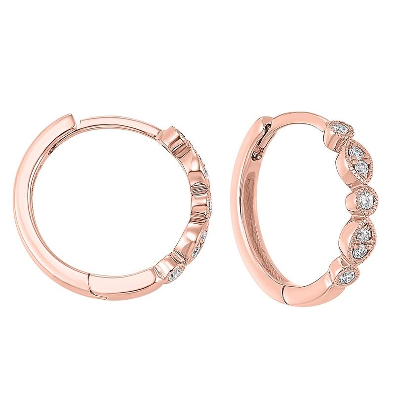 14kr diamond earrings 1/7ct
