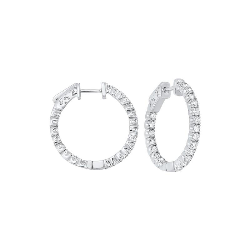 14kw prong diamond hoop earrings 1 1/2ct, fe2046-1yd
