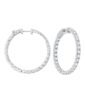 14kw prong diamond hoop earrings 5ct, fe2084-4yd