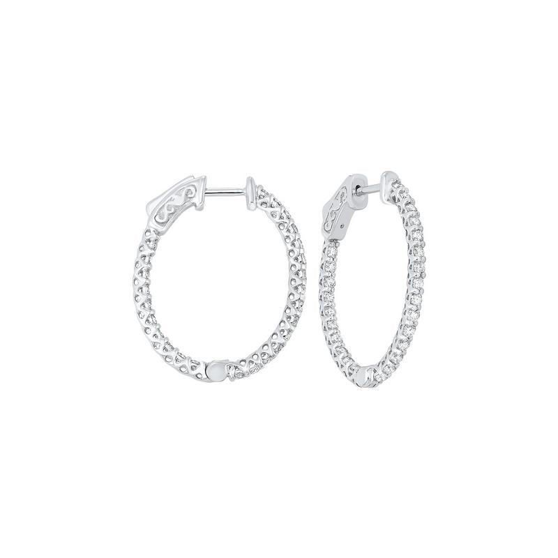 14kw prong diamond hoop earrings 1 1/2ct, fe2083-4yd