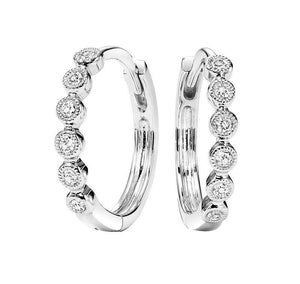 10kw mix prong diamond earrings 1/7ct