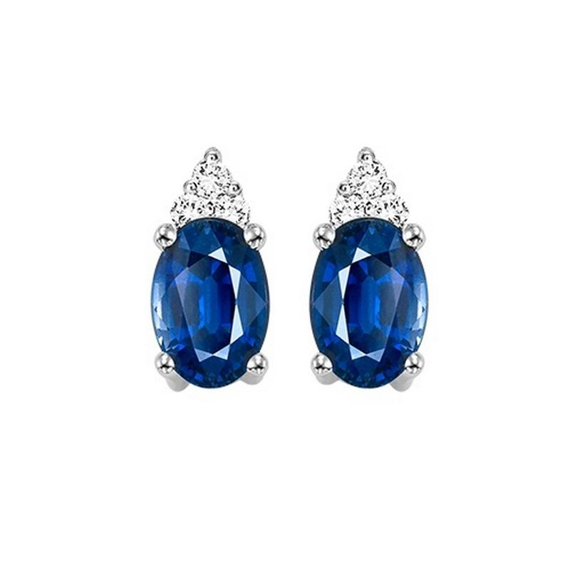 10kw color ens prong sapphire earrings 1/20ct, er24309-4wc