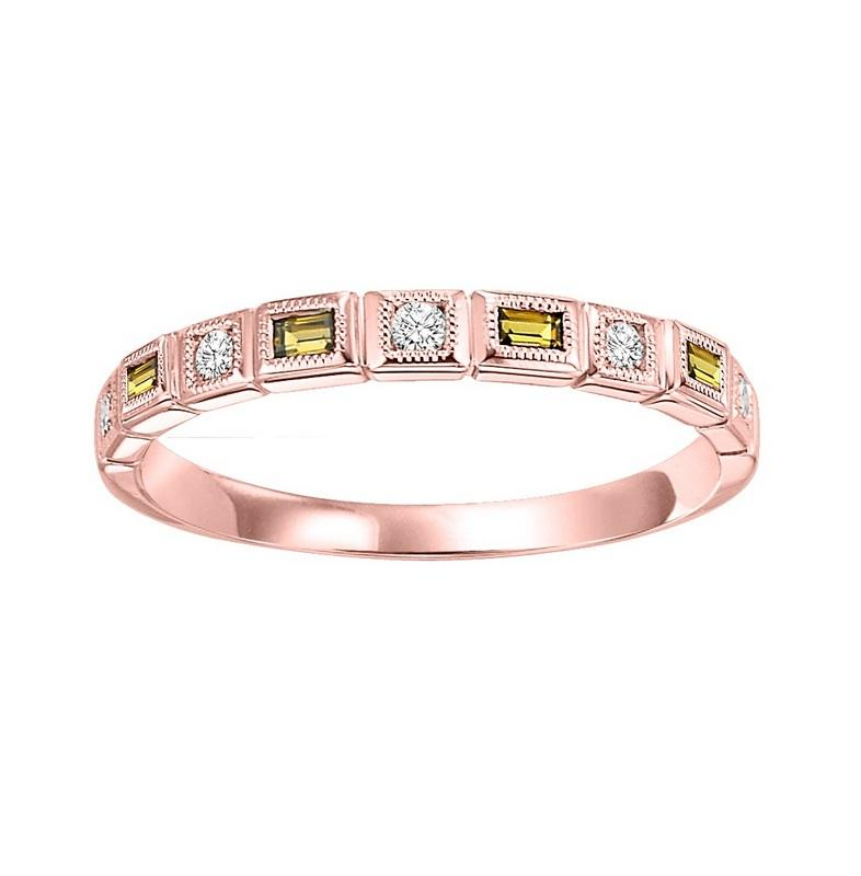 10kr mix bezel citrine band 1/12ct