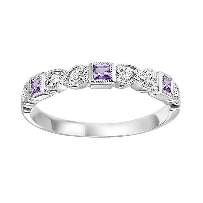10kw mix bezel amethyst band 1/12ct