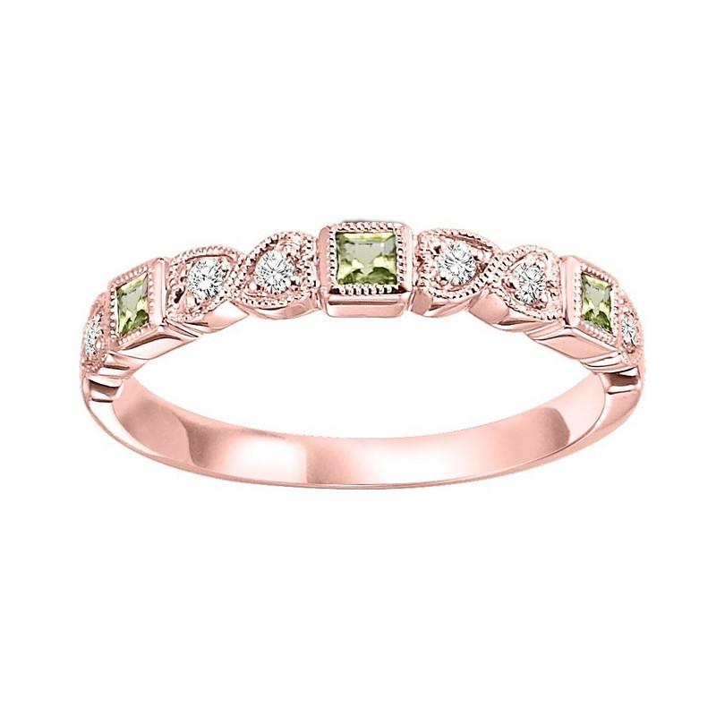 10kr mix bezel peridot band 1/12ct