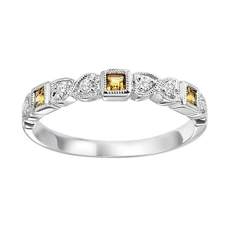 10kw mix bezel citrine band 1/10ct