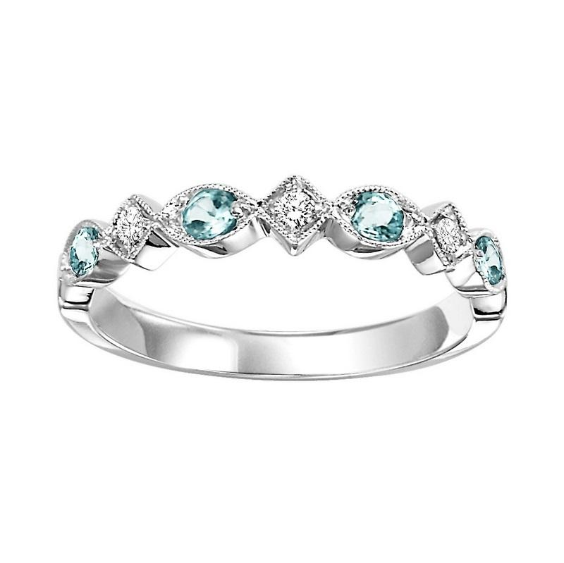 10kw mix prong blue topaz band 1/20ct