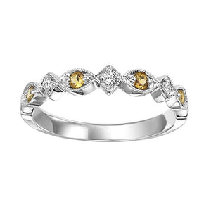 10kw mix prong citrine band 1/20ct
