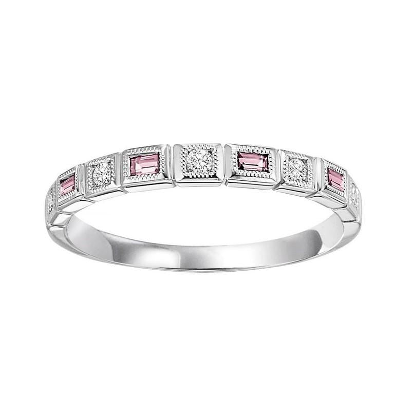 14kw mix bezel pink tourmaline band 1/12ct, pc8025p1-4w