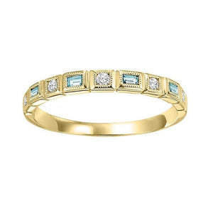 14ky mix bezel blue topaz band 1/10ct, pc8060p1-4w