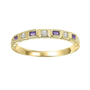 14ky mix bezel amethyst band 1/12ct, rg73505-4wb