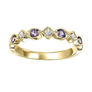 14ky mix prong amethyst band 1/20ct, rg71639-4wb