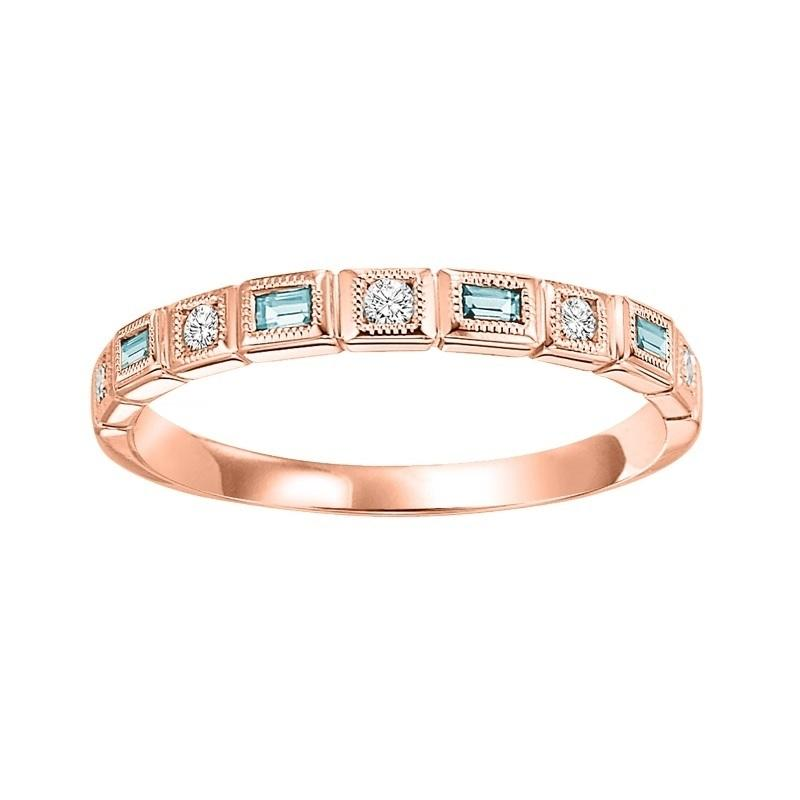10kr mix bezel aquamarine band 1/12ct