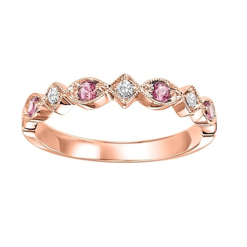 14kr mix prong alexandrite band 1/20ct, kb100-4wd