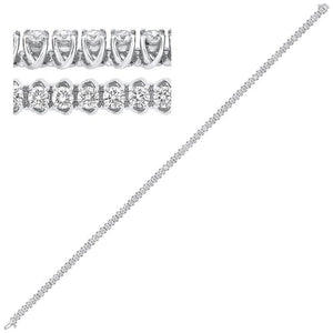 14kw prong diamond bracelet 3ct, rg10058-4pd