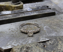 Load image into Gallery viewer, 14k White Gold 1/2 Carat Total Weight Classic Diamond Engagement Ring