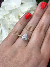 Load image into Gallery viewer, 14KTt Diamond Tru Reflection Pear Bridal Ring 5/8Ct