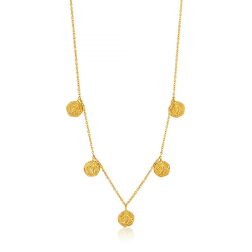 ANIA HAIE YELLOW  OVERLAY GOLD DEUS NECKLACE