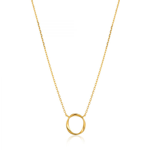 ANIA HAIE GOLD SWIRL NECKLACE